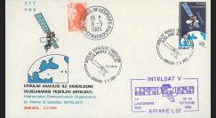 """INTELSAT1 : 1985 - FDC 1er Jour Turquie """"20e anniversaire d'Intelsat"""""""
