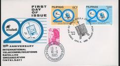 """INTELSAT2 : 1985 - FDC 1er Jour Philippines """"20e anniversaire d'Intelsat"""""""