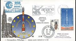 AR 23L-T1 : 1984 - FDC Ariane V11 sat. SPACENET 2 & MARECS B2 - affrt Salon aéronautique
