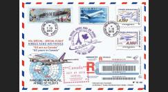 """A380-109R : 2010 - RECO voyagée """"Vol A380 Paris-Montréal - Air France"""