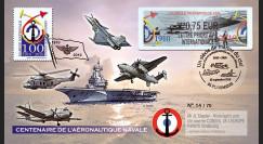 """AERONAV10-3P : 2010 - Pli """"100 ans Aéronautique Navale - divers appareils"""" - Ploemeur"""
