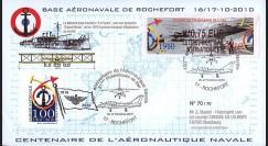 "AERONAV10-1R : 2010 - Pli ""100 ans Aéronautique Navale - Foudre + hydravion"" - Rochefort"