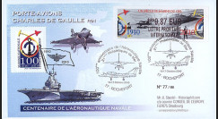 "AERONAV10-2R : 2010 - Pli ""100 ans Aéronautique Navale - PA de Gaulle"" - Rochefort"
