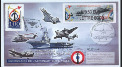 """AERONAV10-3R : 2010 - Pli """"100 ans Aéronautique Navale - divers appareils"""" - Rochefort"""