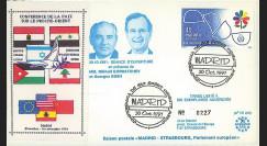 """PE242T1 : 30.10.91 - FDC Espagne """"Conférence de la Paix sur le Proche-Orient à Madrid"""""""