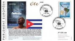 """PE597 : 2010 - FDC PE """"Remise du Prix Sakharov 2010 au dissident cubain"""