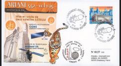 V195L-T2 : 2010 - FDC Kourou Vol 195 Ariane - satellites COMS & ARABSAT 5A / oblit. GF