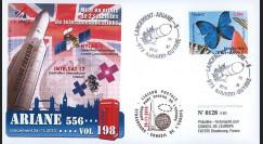 V198L-T2 : 2010 - FDC Kourou Vol 198 Ariane - sat. HYLAS & INTELSAT-17 / oblit. GF