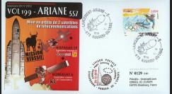 V199L-T2 : 2010 - FDC Kourou Vol 199 Ariane - sat. KOREASAT 6 & HISPASAT-1E / oblit. GF