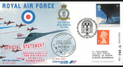 "CO 03-RAF1 : 2003 - FDC GB ""Royal Air Force - Annonce du retrait définitif de Concorde"""