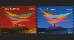 """BR109N : 2000 - 2 valeurs """"1ère émission provisoire du Timor Oriental UNTAET"""""""