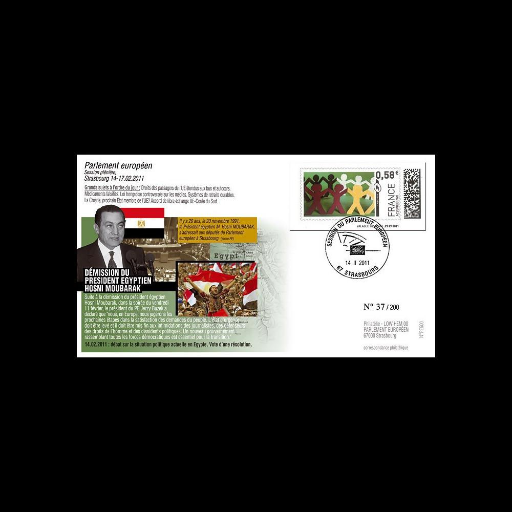 """PE600 : 2011 - FDC PE """"Démission du Président d'Egypte"""