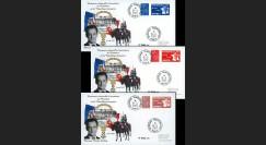 """EP07-4S : 2007 - 3 plis """"Présidentielles 2007 - Investiture de Sarkozy"""" - TAD BT Paris"""