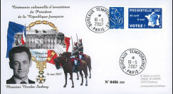 """EP07-4 : 2007 - Pli """"Présidentielles 2007 - Investiture de Sarkozy"""" - TAD BT Paris"""