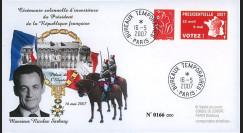 """EP07-4a : 2007 - Pli """"Présidentielles 2007 - Investiture de Sarkozy"""" - TAD BT Paris"""