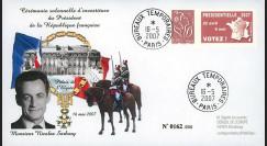 """EP07-4b : 2007 - Pli """"Présidentielles 2007 - Investiture de Sarkozy"""" - TAD BT Paris"""