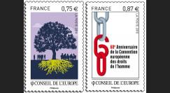 CE61-NF : 2009 - 2 valeurs timbres de service du Conseil de l'Europe