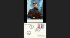 """DG10-17 : CP """"Gal de Gaulle à bord de la 'Combattante"""" oblit. SPM 18.6.10 """"Appel 18 juin"""""""