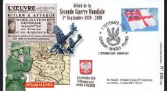 """WW39-09A : 2009 - Pli Gde-Bretagne """"1er septembre 39"""