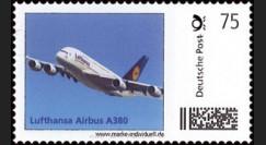 """A380-119N : 2011 - Premier timbre personnalisé Allemagne """"Lufthansa Airbus A380"""""""