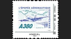 """A380-104NM : 2010 - TPP France """"A380 - Épopée aéronautique européenne"""" / Monde 20g"""