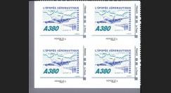 """A380-104NMB4 : 2010 - Bloc 4 TPP France """"A380 - Épopée aéronautique eur."""" / Monde 20g"""