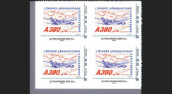 "A380-105N50B4 : 2010 - Bloc 4 TPP France ""A380 vers l'Asie et Concorde"" / Lettre prio 50g"
