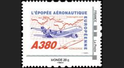 """A380-105NM : 2010 - TPP France """"A380 volant vers l'Asie et Concorde"""" / Monde 20g"""