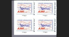"""A380-105NMB4 : 2010 - Bloc 4 TPP France """"A380 vers l'Asie et Concorde"""" / Monde 20g"""