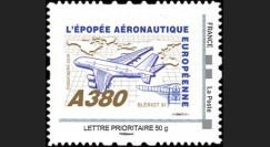 """A380-108N50 : 2010 - TPP France """"A380 vers l'Amérique et Blériot XI"""" / Lettre prio 50g"""