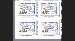 """A380-108N50B4 : 2010 - Bloc 4 TPP """"A380 vers l'Amérique et Blériot XI"""" / Lettre prio 50g"""