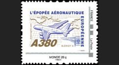 """A380-108NM : 2010 - TPP France """"A380 volant vers l'Amérique et Blériot XI"""" / Monde 20g"""