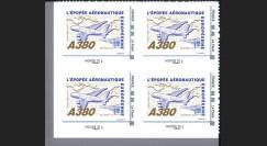 """A380-108NMB4 : 2010 - Bloc 4 TPP """"A380 volant vers l'Amérique et Blériot XI"""" / Monde 20g"""
