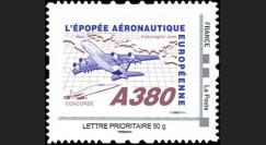"""A380-109N50 : 2010 - TPP France """"A380 vers l'Amérique et Concorde"""" / Lettre prio 50g"""