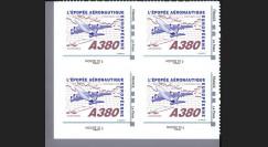 """A380-109NMB4 : 2010 - Bloc 4 TPP """"A380 volant vers l'Amérique et Concorde"""" / Monde 20g"""
