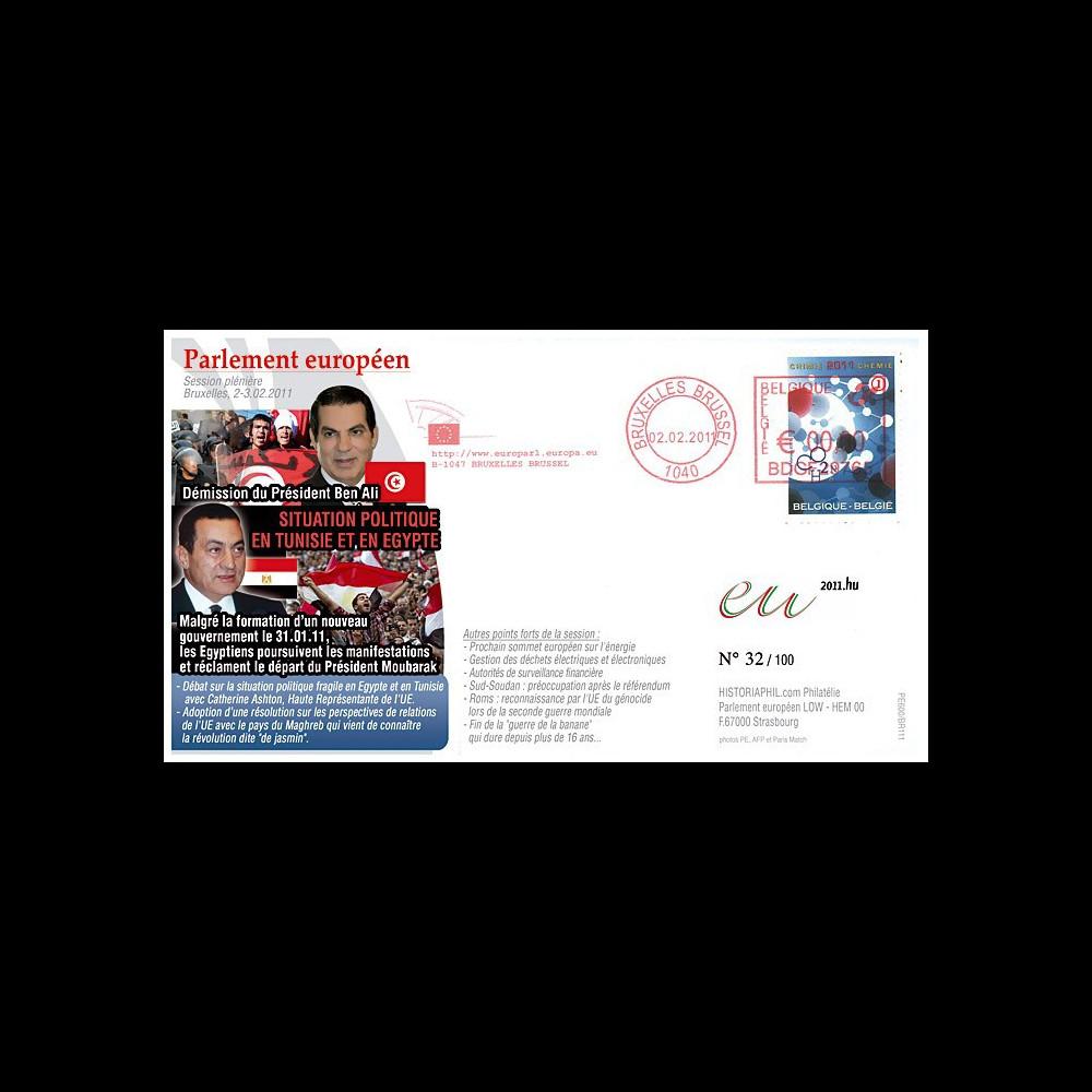 """BR111 : 2.2.11 - FDC Bruxelles """"Démission du Pdt Ben Ali et situation politique en Egypte"""""""