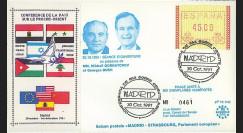 """PE242T2 : 30.10.91 - FDC Espagne """"Conférence de la Paix sur le Proche-Orient à Madrid"""""""