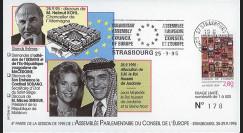 """CE46-IV : 25.9.95 - FDC Session CE """"le Roi Hussein de Jordanie et le Chancelier alld H. Kohl"""""""