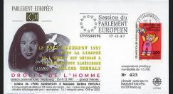"PE354 : 17.12.97 - FDC Session PE ""Prix Sakharov à Salima Ghezali"