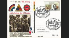 """LIB05-DA : 2005 - Entier Postal ALLEMAGNE """"60 ans Libération du camp de DACHAU"""""""