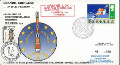 "MARECS-1L : 18.6.85 - FDC UK 1st Day Stamp ""Maritime Telecom. Satellite MARECS-A3"""