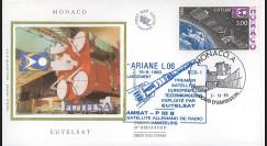 """EUTELSAT85 : 7.11.85 - FDC MONACO 1er Jour du timbre """"EUTELSAT"""""""