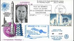 "AR28L : 12.9.85 - FDC ""Ariane 3 V15 - satellites SPACENET-F3 et ECS-3 non-satellisés"""