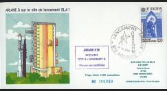 "AR28L-SEP : 12.9.85 - FDC SEP ""Ariane V15 - sat. SPACENET-F3 et ECS-3 non-satellisés"""
