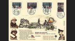 """LIB04-BE1 : 2004 - Maxi FDC BELGIQUE """"60 ans Bataille des Ardennes / PATTON & TASSIGNY"""""""