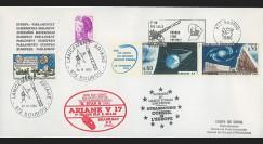 """AR30LA : 28.3.86 - Env. Parlement européen """"Ariane V17 - sat. G-STAR II & BRASILSAT S2"""""""