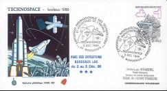 "TECHNO86 : 3.12.86 - FDC SEP ""Exposition Technospace de Bordeaux"""