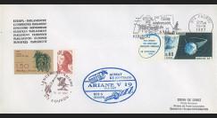 """AR32LA : 15.9.87 - Enveloppe Parlement européen """"Ariane V19 - sat. AUSSAT K3 et ECS 4"""""""