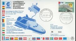 """AR33L : 9.11.87 - FDC """"Conférence ministérielle de l'ESA à La Haye (Pays-Bas)"""""""