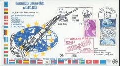 """AR34L : 20.11.87 - FDC """"Ariane V20 - sat. TV-SAT 1 - 1er lancement réussi d'une Ariane 2"""""""